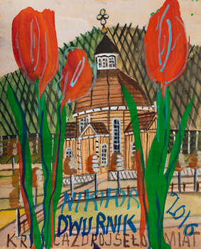 Krynica-Zdrój / Tulips - from the Nikifor / Dwurnik series - AKWARELA - Edward Dwurnik