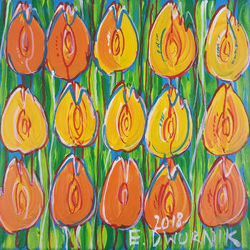 Orange Tulpen - Ölgemälde - Edward Dwurnik