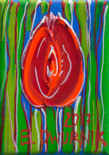 Red tulip - Edward Dwurnik