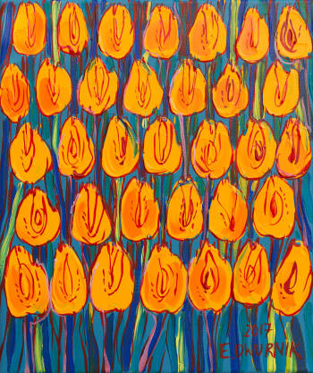 Yellow Tulips - Edward Dwurnik