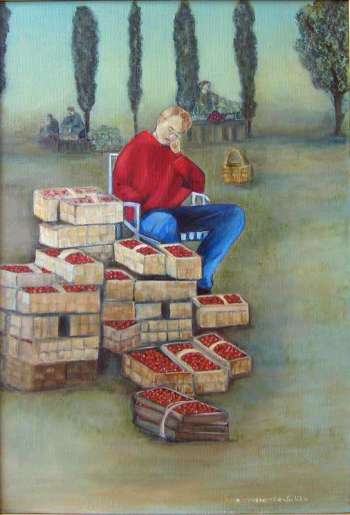 strawberry seller - Ewa Kraszewska-Suliba