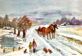 Winter in the countryside. - Ewa Zakrzewska