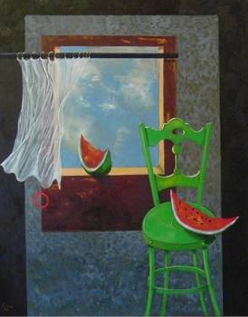 Green chair and watermelon .... - Gilberto Carpo