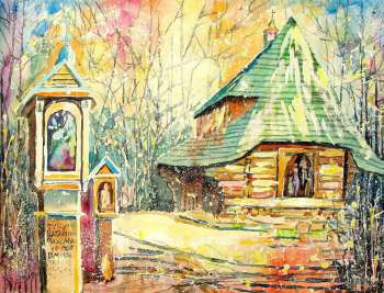 Church and chapels in the Sanok's open-air museum - Henryk Lasko