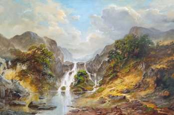 Landscape with a waterfall - Igor Janczuk