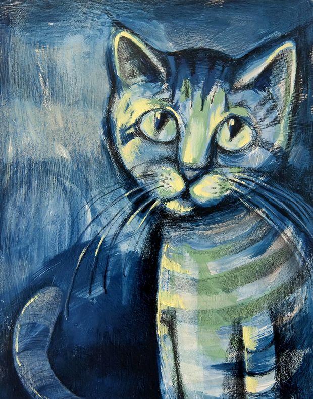 Niebieski Kot Igor żakowski Touchofart