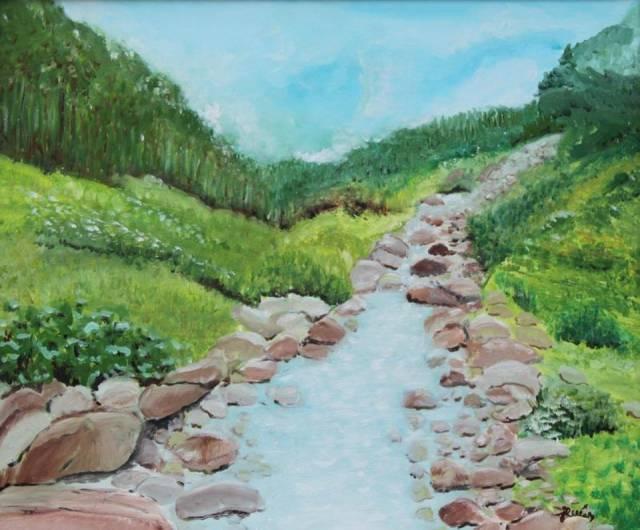 Dodatkowe Wiosenny krajobraz - Jadwiga Rudnicka   TouchofArt WM81