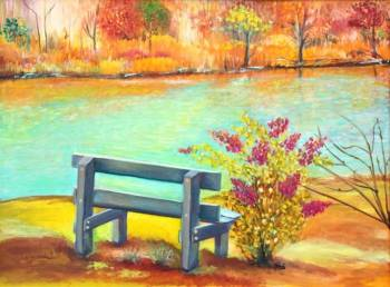 Bench by the water - Jadwiga Rudnicka
