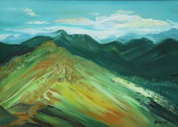 yellow mountain - Jadwiga Rudnicka