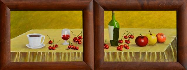 Still life with cherries Janina Wojdat