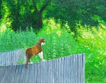 The cat's hunting - Janina Wojdat
