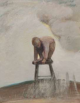 BOY ON THE STOOL - Janusz Lewandowski