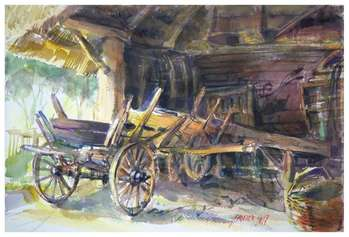 In the old shed. - Jarosław Drążek