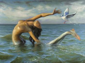 'The Last Baltic Mermaid Catching Bird Flu' - Jarosław Kukowski