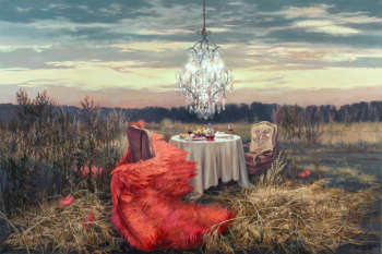 Unfinished dinner - Autumn - Joanna Sierko Filipowska