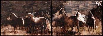 horses at night - Jolanta Kalopsidiotis