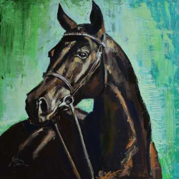 Portrait of a horse 1 - Justyna Zielonka