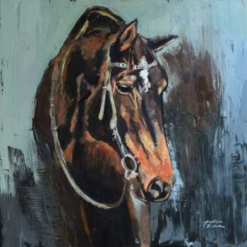 Portrait of a horse 2 - Justyna Zielonka