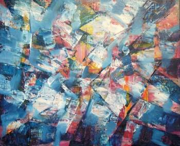 Blue Abstraction space - Kazimierz Komarnicki