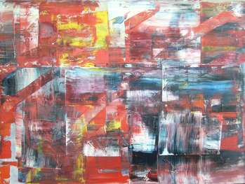 Abstract Red Light 01 - Kazimierz Komarnicki