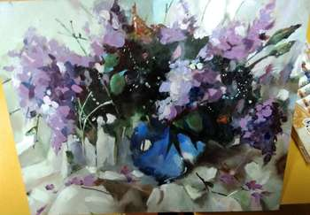 """Still life with lilac"" - Kiryl Koneu"