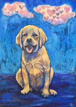 My labrador and his heart clouds - Krystyna PALCZEWSKA