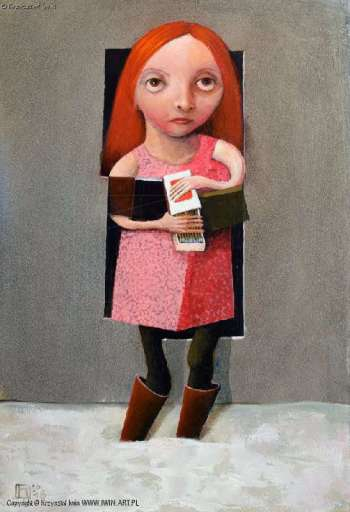 Girl with matches - Krzysztof Iwin