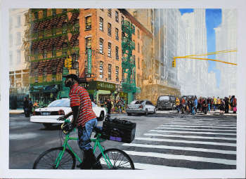 From the series of postcards a cyclist in NYC - Krzysztof Kiwerski