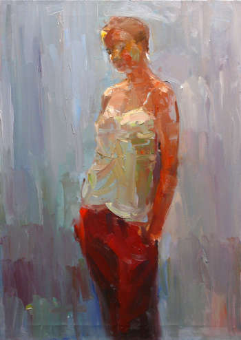 The girl in red pants - Krzysztof Tracz