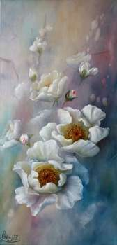 Impression de rose blanche - Lidia Olbrycht