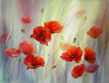 Red poppies - Lidia Olbrycht