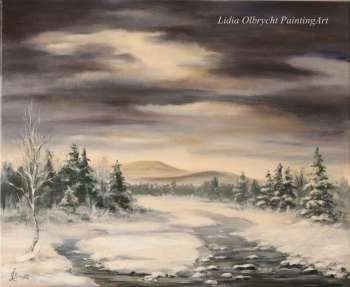 Paesaggio invernale - River Valley - Lidia Olbrycht