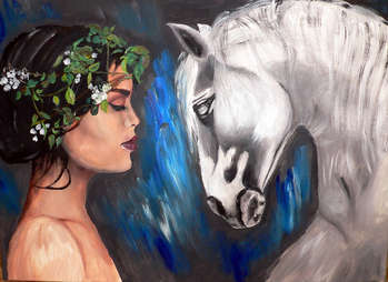Princess and white horse - Magdalena Skwarek
