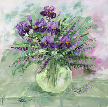 Bouquet with irises - Małgorzata Kruk