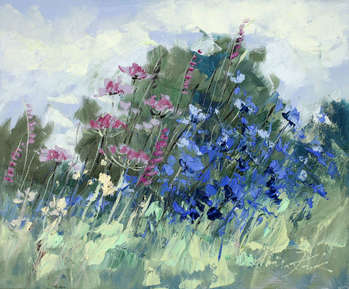 Meadow near the forest - Małgorzata Kruk