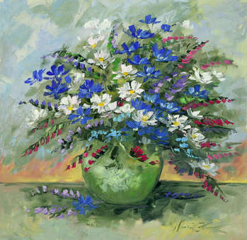 Blue summer in a vase - Małgorzata Kruk