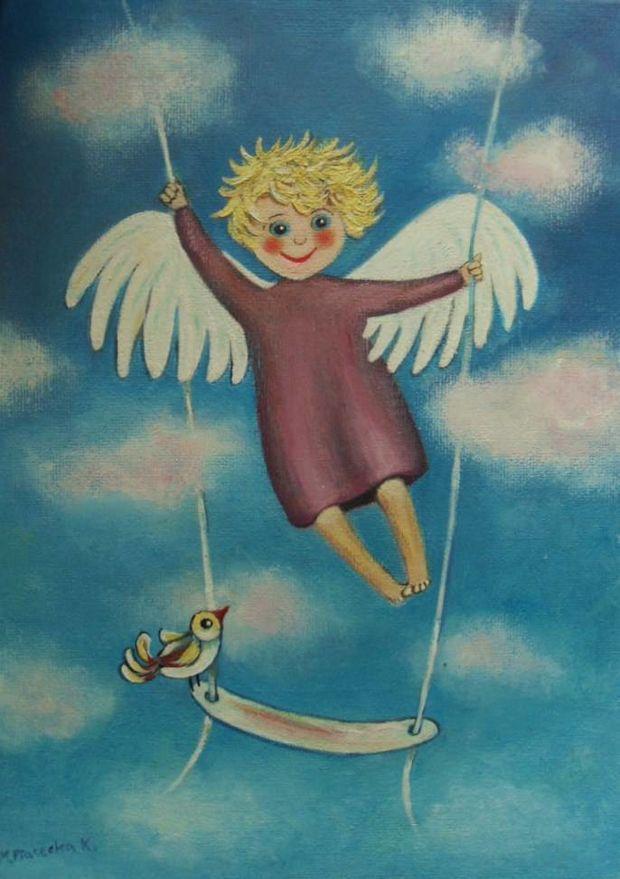 картинка ангел на качелях интерьера определенной