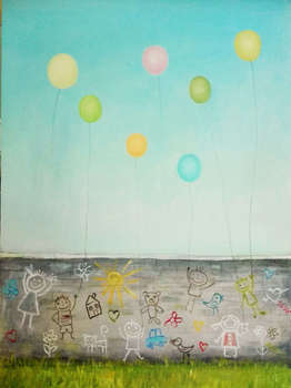 Children's drawings with ... balloons - Małgorzata Piasecka Kozdęba