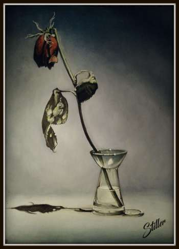 """Rose on glass"" - Małgorzata Wagner"