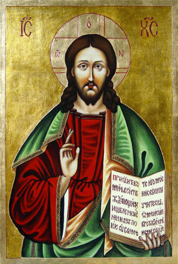 The Christ Pantocrator - painted on the basis of a 18th-century icon from Belarus - Malwina Wójcik
