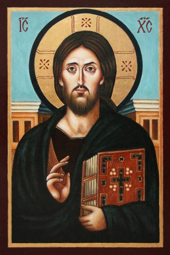 Christ Pantocrator - The Christ Pantocrator - painted on the basis of the oldest image of Christ from 6th c - Malwina Wójcik