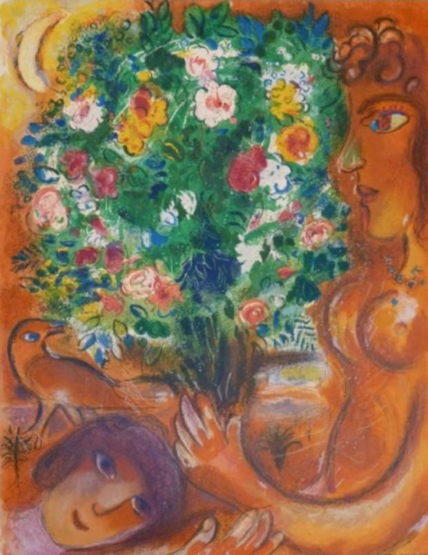 Woman With Bouquet Marc Chagall Touchofart