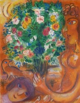 Woman with Bouquet  - Marc Chagall