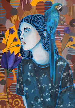 She and the blue flowers 2 - Marcin Painta
