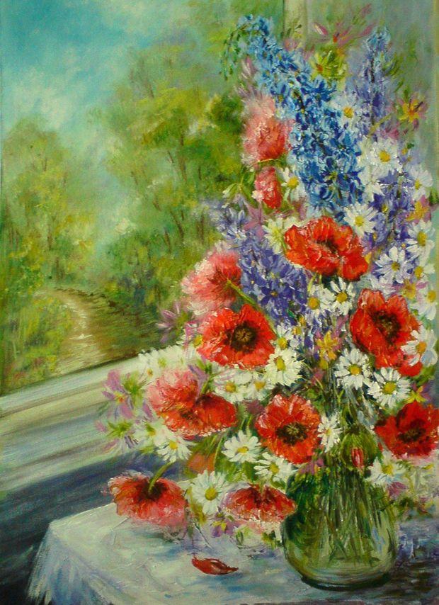 Bouquet di fronte a una finestra maria roszkowska - Una finestra di fronte ...