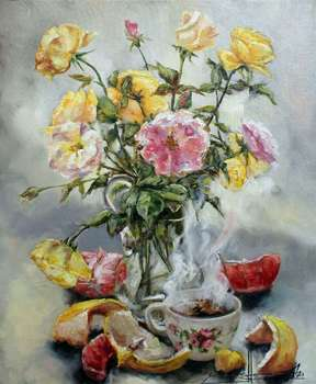 Still life with roses - Marina Kozlowska