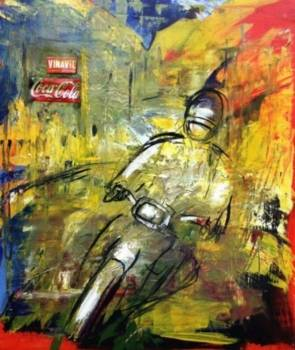 Man on motorbike  - Mario Zampedroni