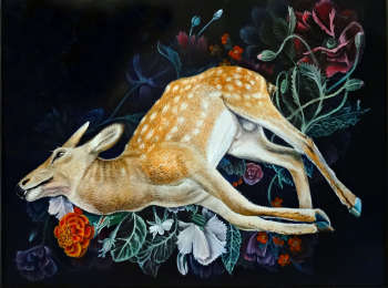 Composition with deer - Marta Piórko