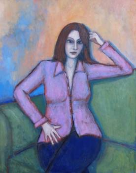 Woman in pink blouse - Massimiliano Ligabue