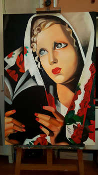 "copy of T. Lempicka ""The Polish Girl"". - Mirosław Sobiech"